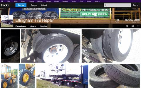 Screenshot of Flickr Page flickr.com - Flickr: Effingham Tire Repair's Photostream - captured Oct. 22, 2014
