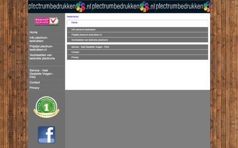 Screenshot of Site Map Page Menu Page plectrum-bedrukken.nl - Map - captured April 15, 2016