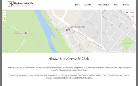 Screenshot of About Page theriverside.ca - About Us - The Riverside Club - captured Nov. 17, 2017