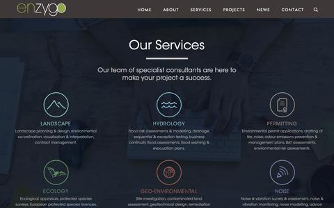 Screenshot of Services Page enzygo.com - Services Archive - Enzygo : Enzygo - captured Sept. 28, 2018