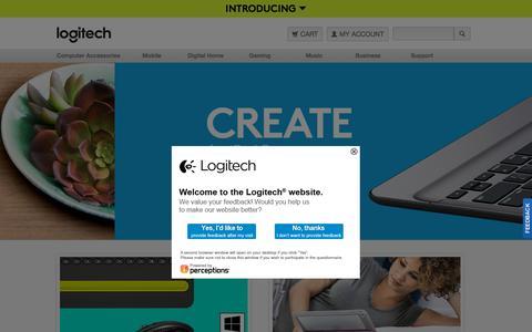 Screenshot of Home Page logitech.com - Logitech - Get Immersed in the Digital World! - captured Oct. 14, 2015