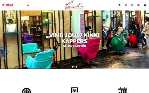 Screenshot of Home Page kinki.nl - Welcome to Kinki Kappers - captured Nov. 27, 2016