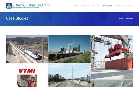 Screenshot of Case Studies Page strategicrail.com - Strategic Rail FinanceCase Studies - Strategic Rail Finance - captured Feb. 16, 2016