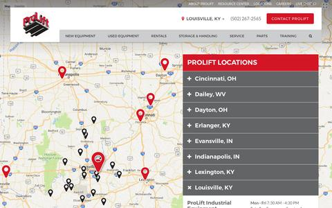 Screenshot of Locations Page proliftequipment.com - Locations Archive | ProLift - captured Sept. 5, 2017