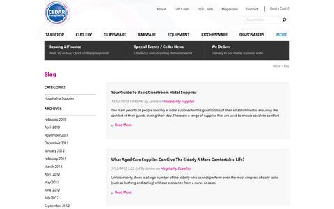 Screenshot of Blog cedarhospitality.com - Blog - captured Dec. 7, 2015