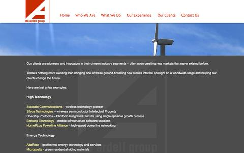 Screenshot of Case Studies Page ardellgroup.com - What We Do - Ardell Group - captured Nov. 3, 2014