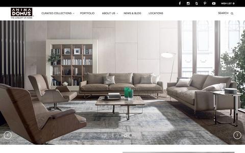 Screenshot of Home Page animadomus.com - Anima Domus – The Concept of Home - captured July 25, 2016