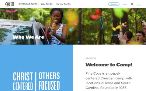 Screenshot of About Page pinecove.com - About Us - Pine Cove - captured April 30, 2018