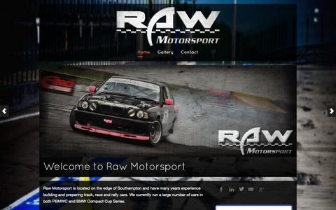 Screenshot of Home Page rawmotorsport.co.uk - Raw Motorsport - captured Sept. 30, 2014