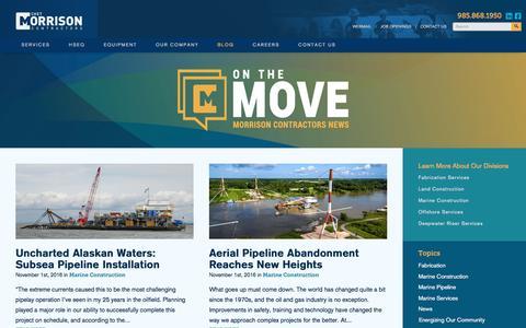 Screenshot of Blog chetmorrison.com - Blog | Chet Morrison Contractors - captured Nov. 5, 2016