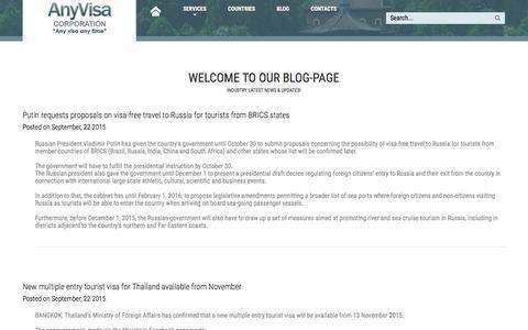 Screenshot of Blog anyvisa.ca - Blog - captured Dec. 25, 2015