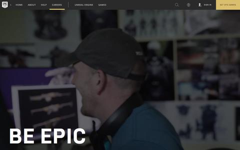 Screenshot of Jobs Page epicgames.com - Epic Games | Careers - captured July 18, 2018