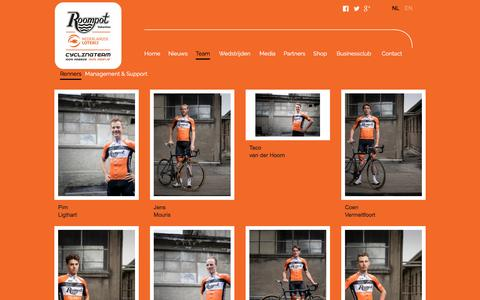 Screenshot of Team Page teamroompot.nl - Renners - captured Jan. 24, 2017