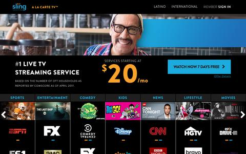 Sling TV is A La Carte TV - Watch 7 Days Free!