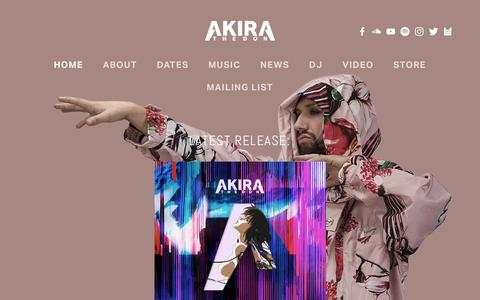 Screenshot of Home Page akirathedon.com - AKIRA THE DON - captured April 5, 2017