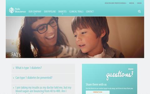 Screenshot of FAQ Page perlebioscience.com - FAQ - Perle BiosciencePerle Bioscience - captured Oct. 28, 2014