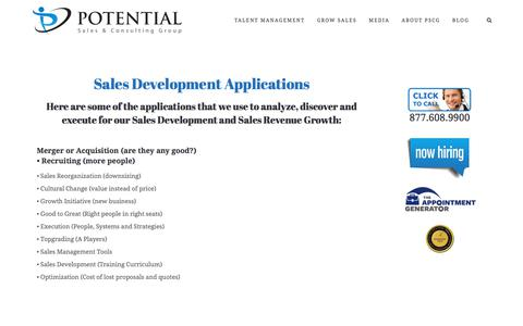 Sales Development Applications – Potential Sales and Consulting Group