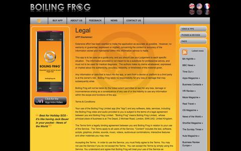 Screenshot of Terms Page boilingfrog.me - Boiling Frog - captured Oct. 5, 2014