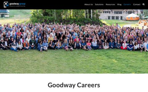 Screenshot of Jobs Page goodwaygroup.com - Careers - Goodway Group - captured Jan. 9, 2018