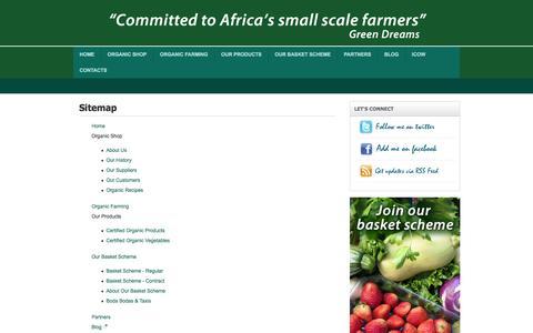 Screenshot of Site Map Page greendreams.co.ke - Sitemap - captured Oct. 3, 2014