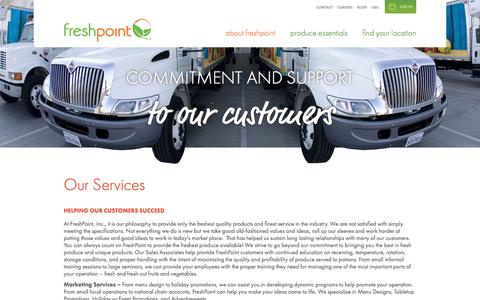 Screenshot of Services Page freshpoint.com - FreshPoint | Our Services - captured Feb. 10, 2016