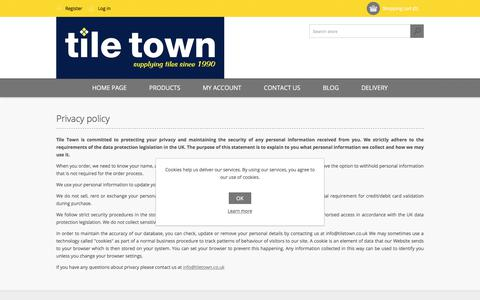 Screenshot of Privacy Page tiletown.co.uk - Privacy policy - captured Oct. 24, 2017