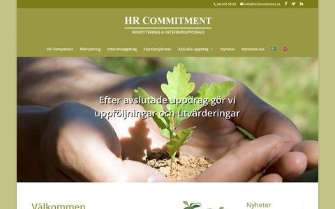 Screenshot of Home Page hrcommitment.se - HR Commitment – Specialist på rekrytering - captured Jan. 23, 2016