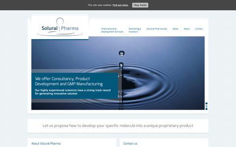 Screenshot of Home Page soluralpharma.com - Solural Pharma - captured Dec. 21, 2018