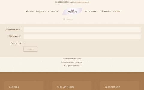 Screenshot of Login Page memare.info - Login - captured Oct. 21, 2018