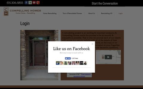 Screenshot of Login Page compellinghomes.com - Compelling Homes | Login | Des Moines - captured Nov. 15, 2016