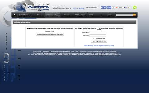 Screenshot of Login Page online-auctions.co - Online-Auctions.co - The best place for online shopping - captured Sept. 30, 2014