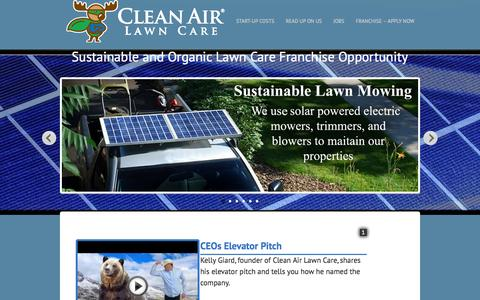 Screenshot of Jobs Page cleanairlawncare.com - Organic Lawn Care Service in Sonoma County - Organic Lawn Care Franchise - captured Sept. 18, 2014
