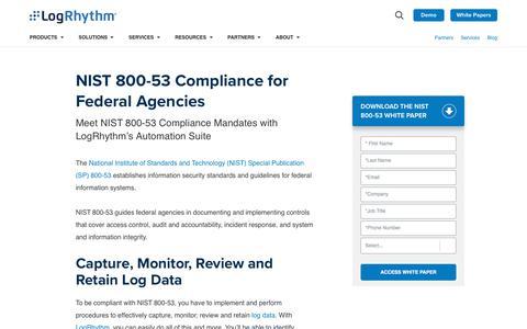 NIST 800-53 Compliance for Federal Agencies | LogRhythm