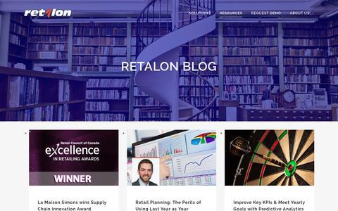 Screenshot of Blog retalon.com - Retail Predictive Analytics News - captured June 14, 2017