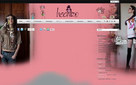 Screenshot of Blog hechizo.it - Eventi.. | Hechizo Fashion Designer - captured Sept. 30, 2014