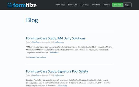 Screenshot of Blog formitize.com.au - Blog Archives - Formitize - captured Nov. 29, 2019