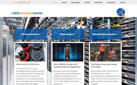 Screenshot of Home Page 3c-nl.com - 3C-NL Bekabelingsconcepten voor de installatiebranche - 3c-nl.com - captured Oct. 2, 2018