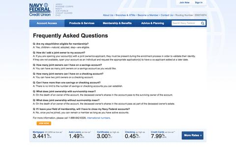 Navy Federal Credit Union: Frequently Asked Questions