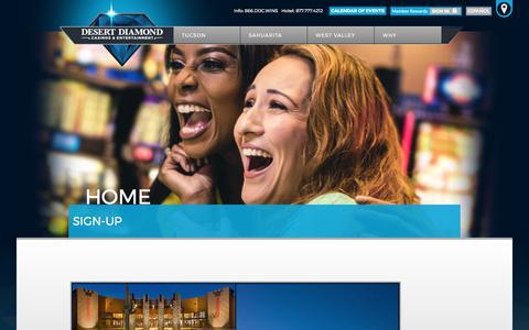 Screenshot of Signup Page ddcaz.com - Sign-Up - Desert Diamond Casinos & Entertainment - captured Oct. 12, 2017