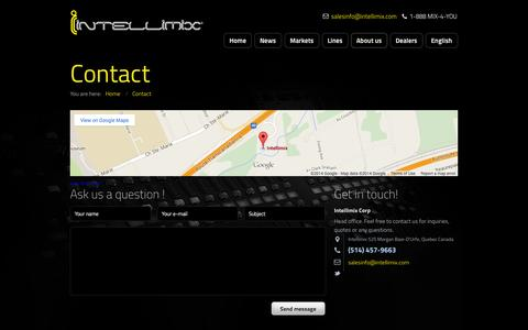Screenshot of Contact Page intellimix.com - Contact - captured Sept. 30, 2014