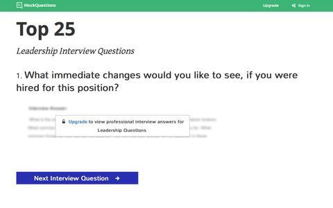 Screenshot of Team Page mockquestions.com - Leadership Interview Questions   MockQuestions - captured Dec. 4, 2016