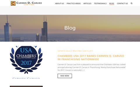 Screenshot of Blog cdcaruso.com - Blog - Carmen D. Caruso Law Firm - captured July 11, 2017