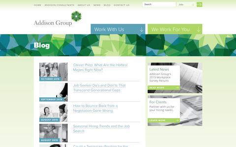 Screenshot of Blog addisongroup.com - Tom's Corner   Addison Group - captured Nov. 5, 2015