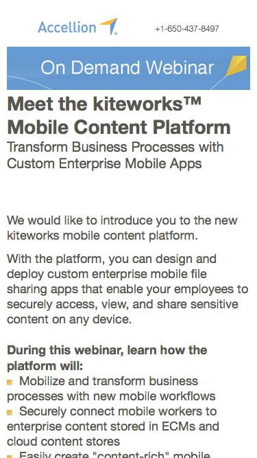 Meet the kiteworks™ Mobile Content Platform, On Demand Webinar from Accellion