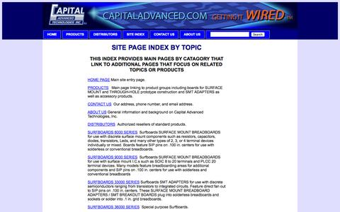 Screenshot of Site Map Page capitaladvanced.com - Capital site page index by subject - captured Oct. 1, 2014