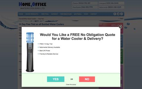 Screenshot of Trial Page home2officewatercoolers.co.uk - 14 Day Free Trial on all Bottled Water Coolers - captured Sept. 26, 2016