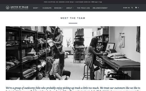 Screenshot of Team Page unitedbyblue.com - Meet the Team - United By Blue - captured Feb. 21, 2016