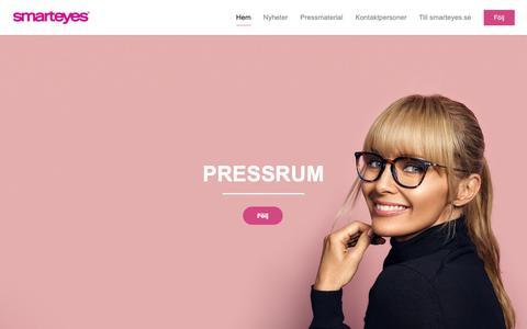Screenshot of Press Page smarteyes.se - Smarteyes - captured Dec. 11, 2018