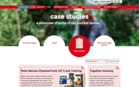 Screenshot of Case Studies Page training2000.co.uk - Our Apprenticeship Success Stories | Training 2000 - captured Nov. 5, 2014