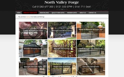 Screenshot of Products Page gatesiron.com - Metal Gate Design and Metal Railings for Driveways - captured Feb. 15, 2016